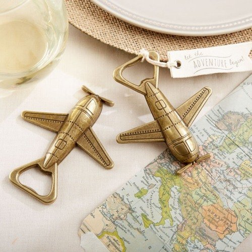 Airplane Bottle Opener Wedding Favours