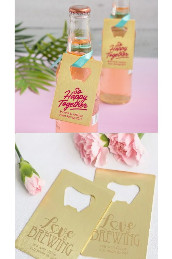 Personalized Credit Card Bottle Opener Wedding Favours