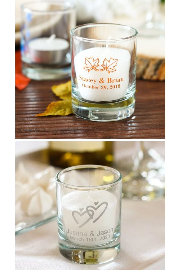 Personalized Wedding Votive Candle Holder Favors