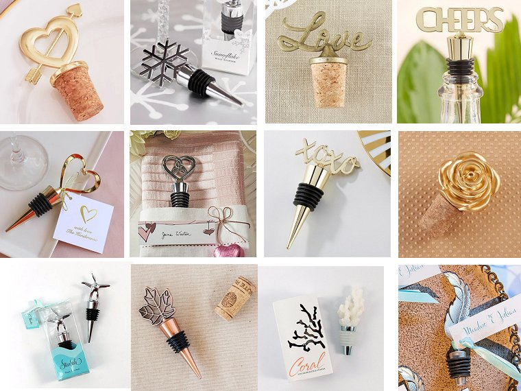 Wine Bottle Stopper Wedding Favors