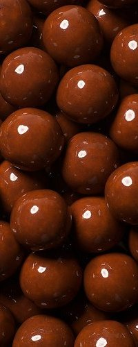 View brown coloured candies
