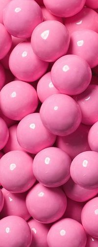 View pink coloured candies