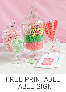 Get your free candy buffet printable table sign!