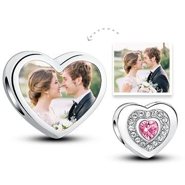 Wedding Jewelry Memorable Charm Pink Love Heart