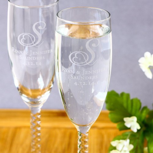 Wedding Reception Personalized Toasting Glasses